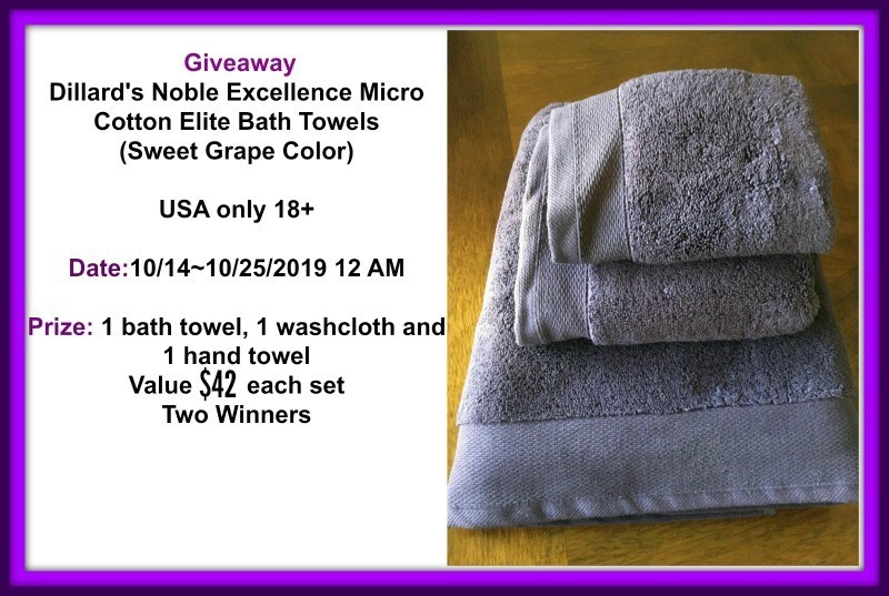 Dillard's Noble Excellence Micro Cotton Elite Bath Towel Set