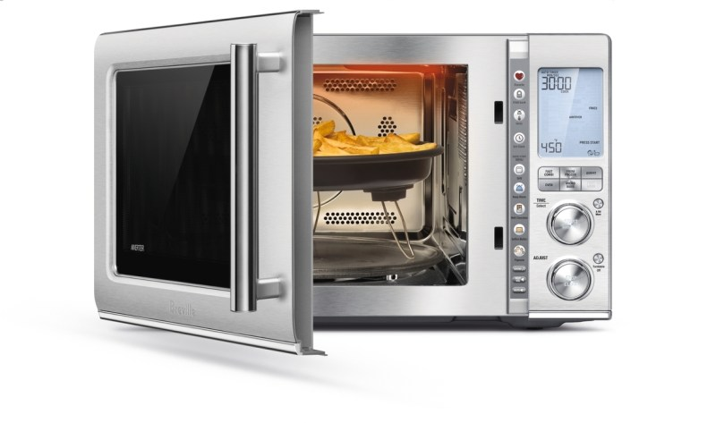 new Breville Combi 3-in-1 Microwave Campaign at Best Buy. The exterior offers an attractive complement to your existing kitchen décor. #Breville, #WaveMic, #BrevilleWave, #WaveHello [to Breville Combi Wave 3-in-1 Microwave]
