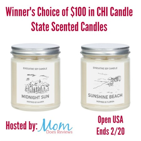 Enter to Win $100 in Candles from Chi Candle! #EvocativeCandles #FavoriteStates