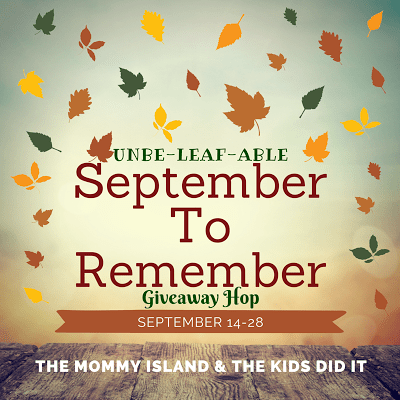 September to Remember Giveaway Hop at Mommy's Playbook