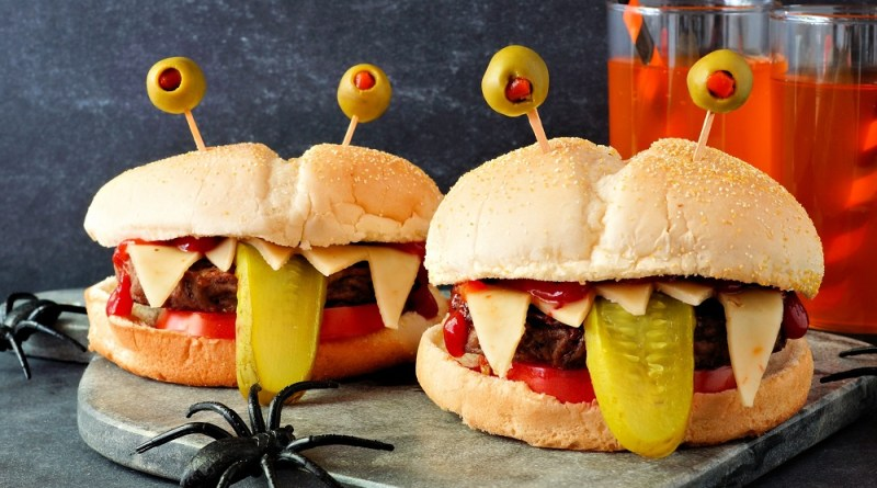 Monster Hamburger for Halloween