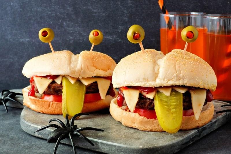 Monster Hamburger for Halloween