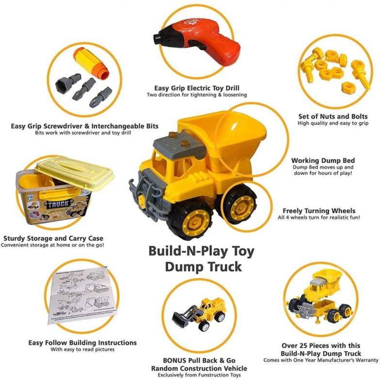Funstruction Toys Build N PLay Toy Dump Truck