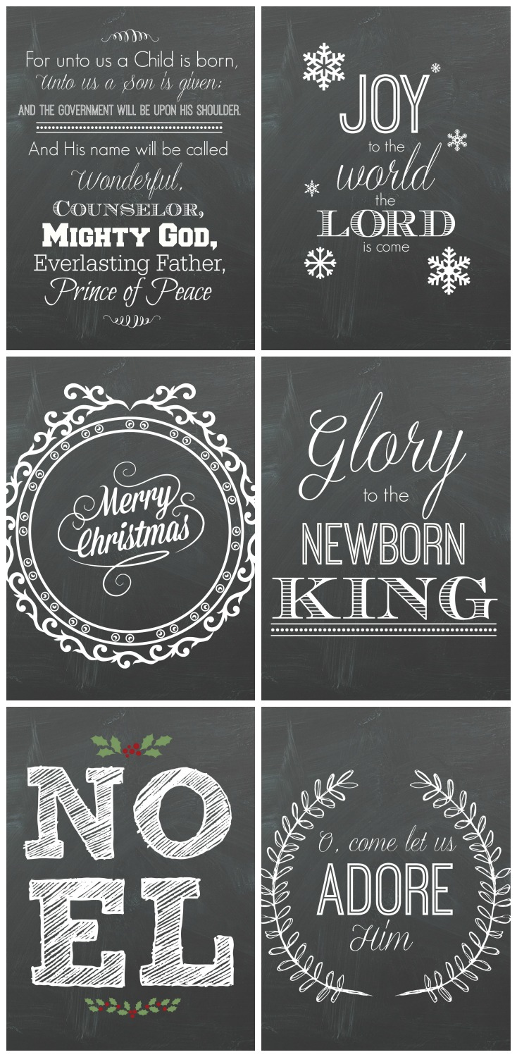 6 free christmas chalkboard printables mommy suite