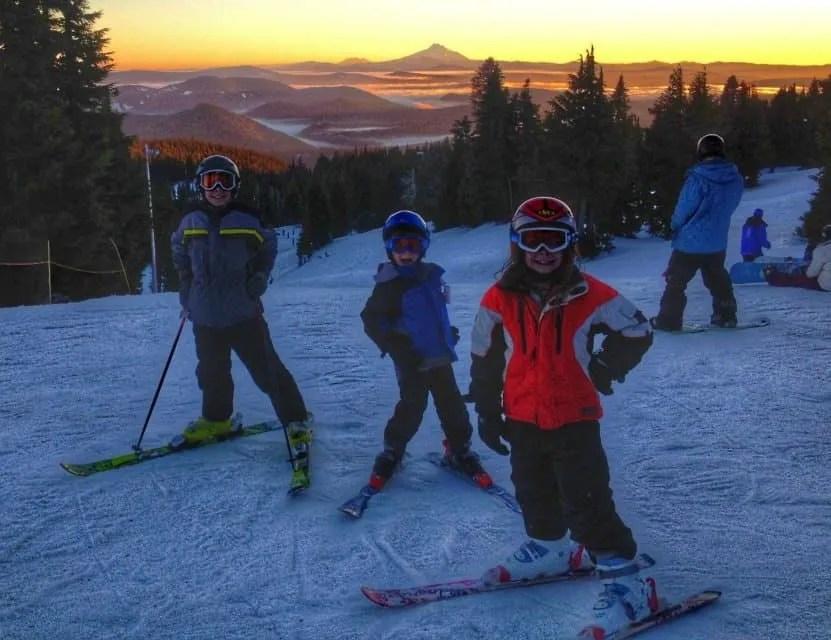 Mt. Hood Skibowl with kids