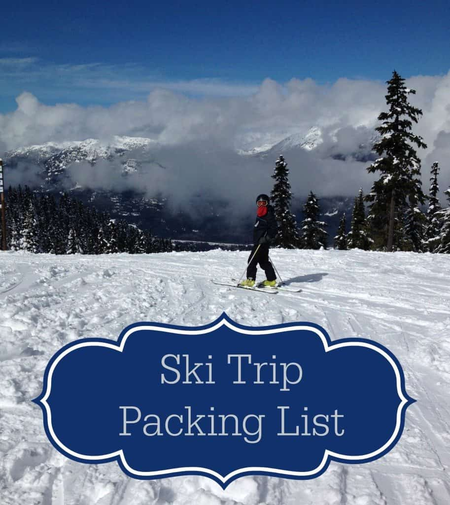 ski trip packing list