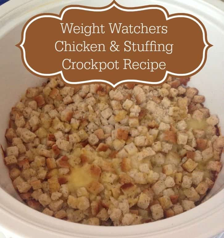 weight watcher crockpot chicken and stuffing