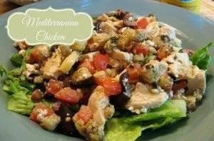 Mediterranean chicken crockpot meal