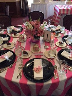 Pink, Black and White bridal Shower