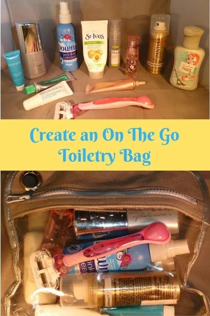 Create an on the go toiletry bag