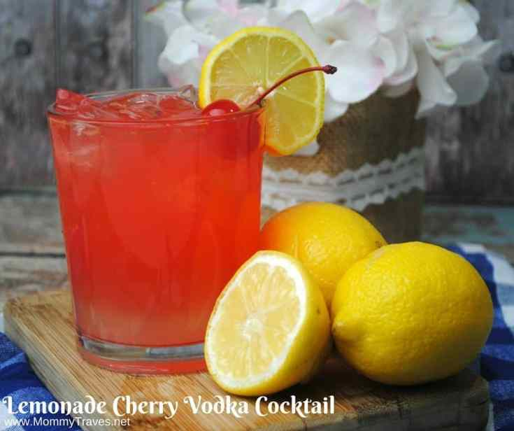 Lemonade Cherry Vodka Cocktail