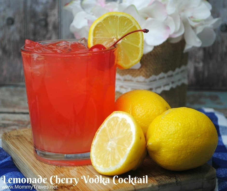 Lemonade Cherry Vodka Cocktail