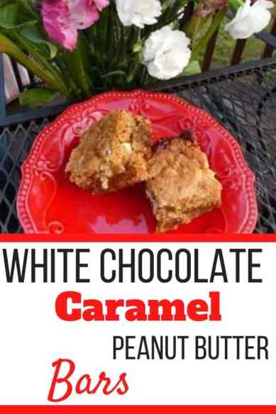White Chocolate Caramel Peanut Butter Bars