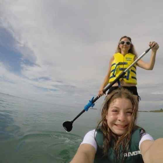 paddling boarding at Beaches