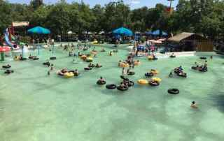 Schlitterbahn - the main pool in the original part of the water park