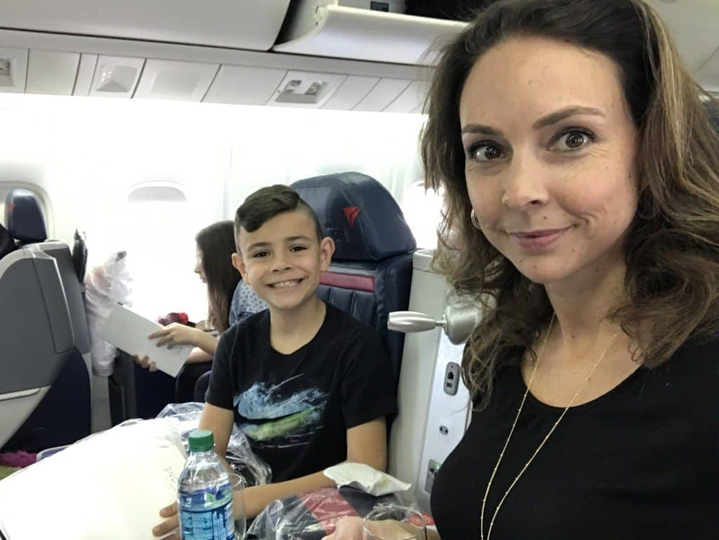 Tips of flying overseas with kids