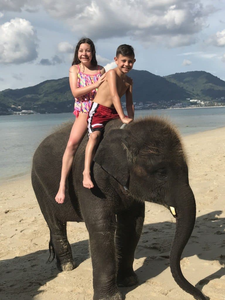 Swimming with Elephants in Phuket Thailand