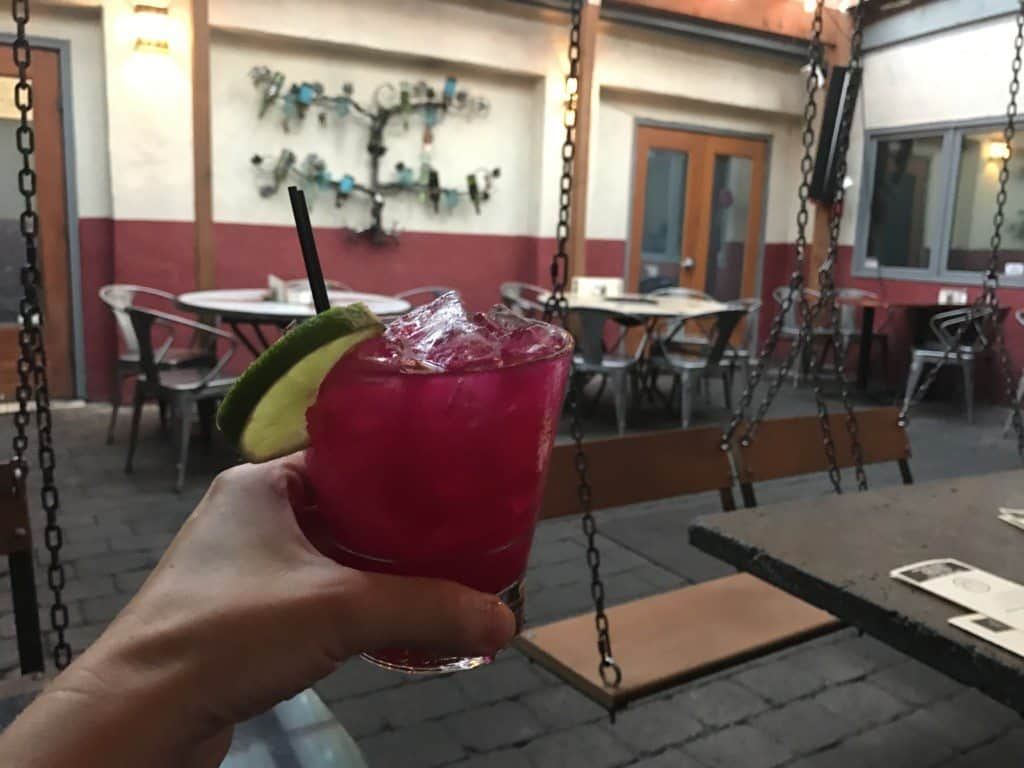Prickly Pear Margarita at Eastburn in Portland, Oregon