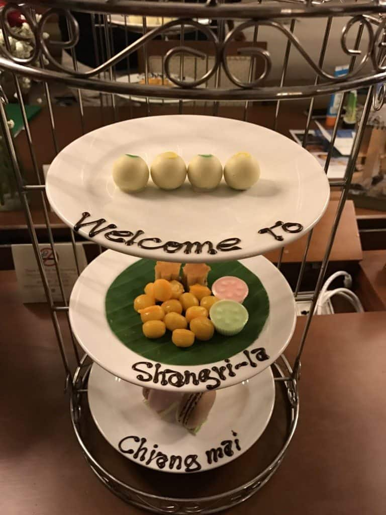 Shangri-la Chiang Mai welcome treats