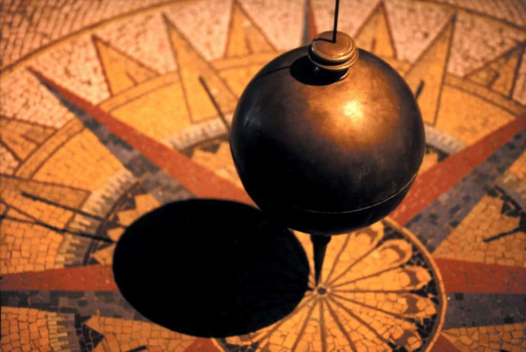 Foucault's Pendulum in Leonardo Da Vinci's Museum, Milan, Italy