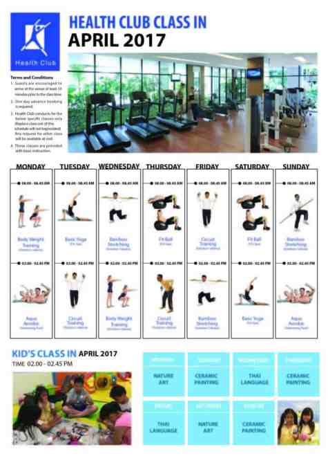 Fitness classes at Shangri-la Chiang Mai