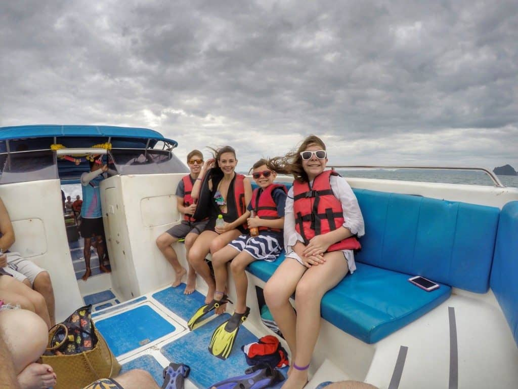 boating out to Phi Phi Island