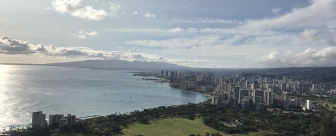 The view of Waikiki from Diamond Head