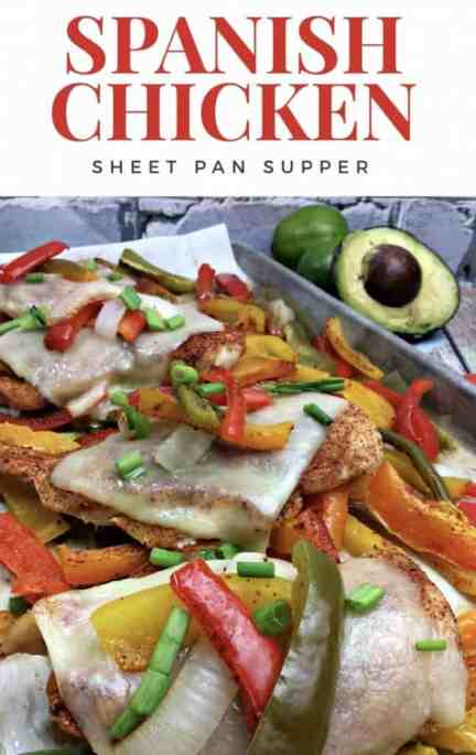 Spanish Chicken Sheet pan dinner