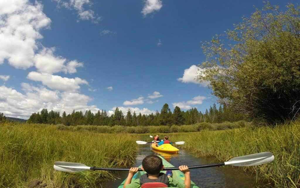 Kayaking in Sunriver, Oregon near Bend, Oregon
