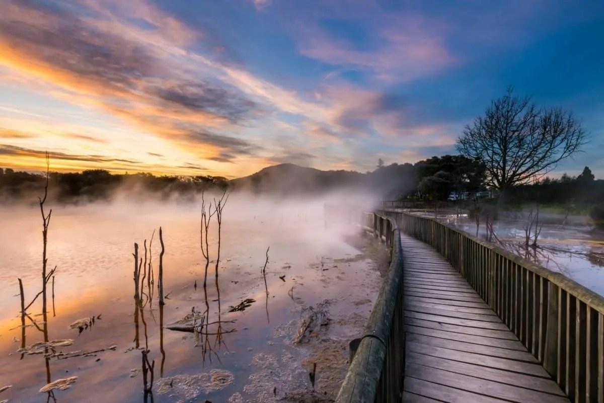 Kuirau Park Sunset in Rotorua