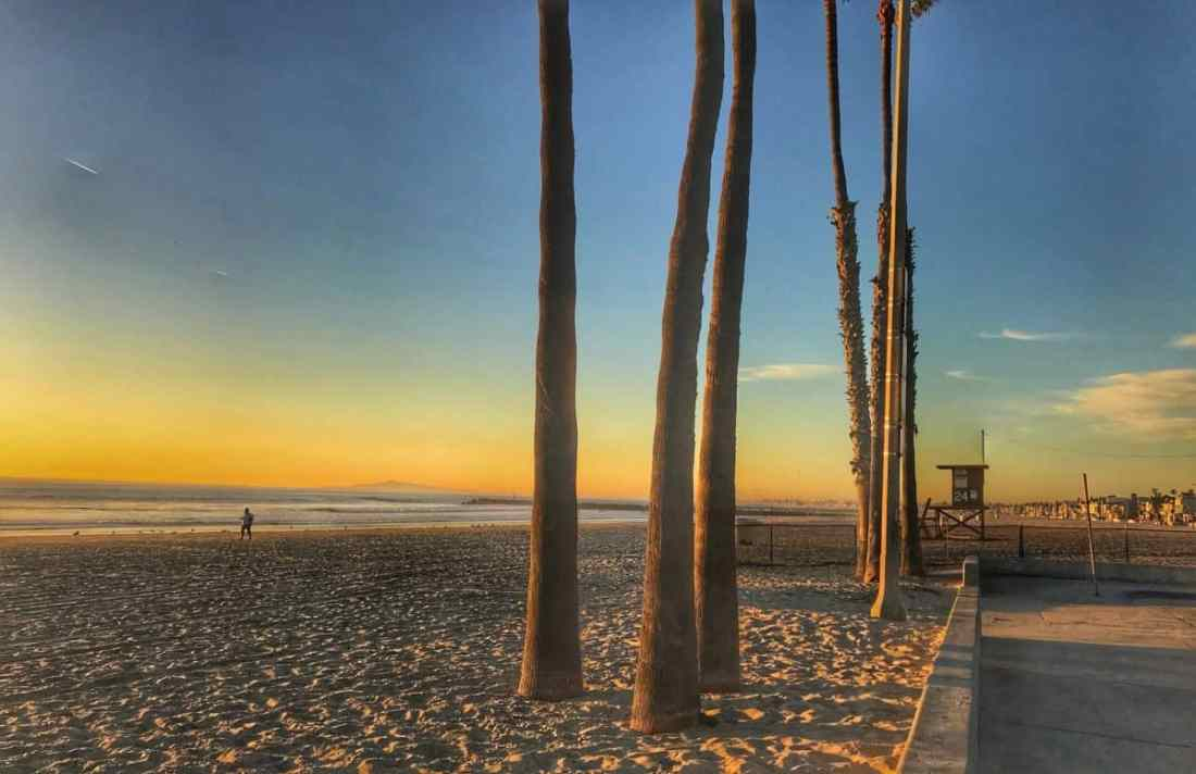Newport Beach at sunset