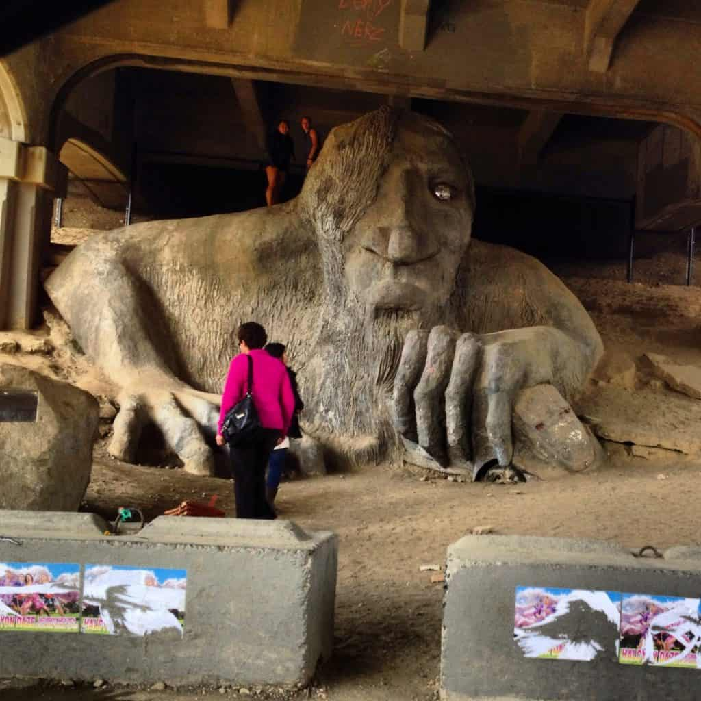 Troll under the bridge in Seattle