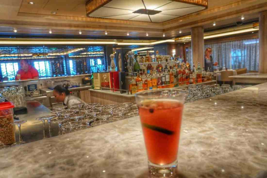 A-List Bar on the Norwegian Bliss