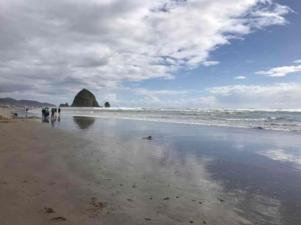 The view of Haystack Rock from Surfsand Resort