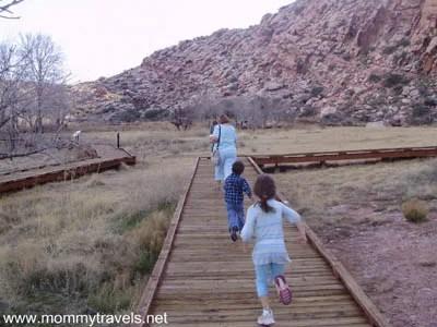 The boardwalk at Calico Basin