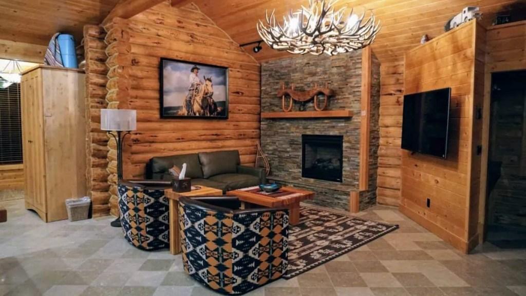 Living room at Silvies Valley Ranch