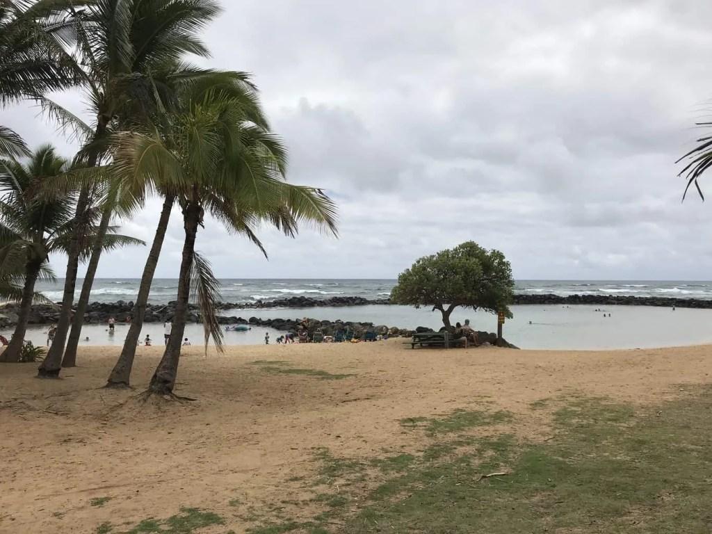Lydgate Beach in Kauai, Hawaii