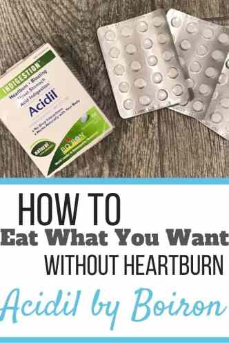 How to fight heartburn with homeopathic Acidil by Boiron