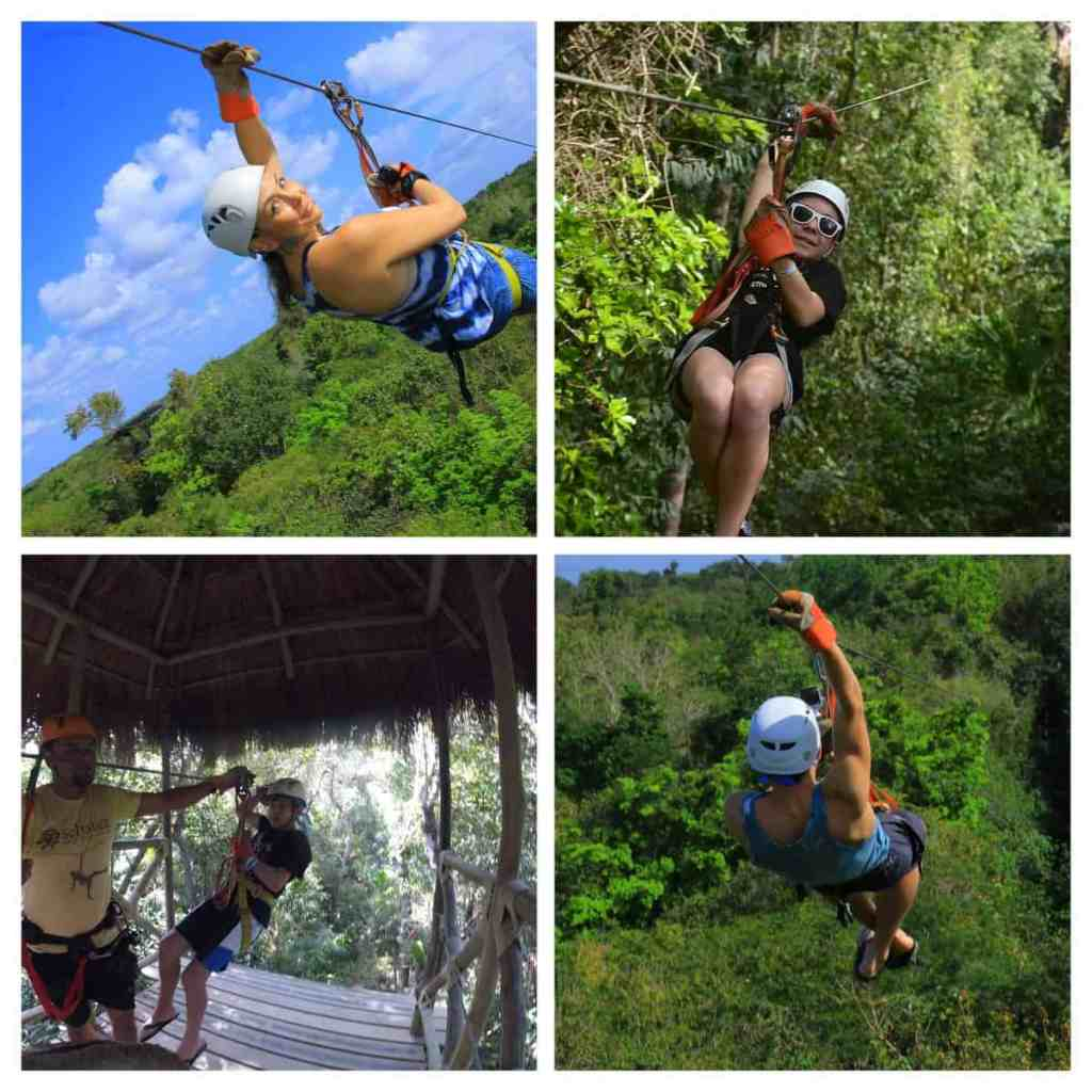 Zip lining at Selvatica