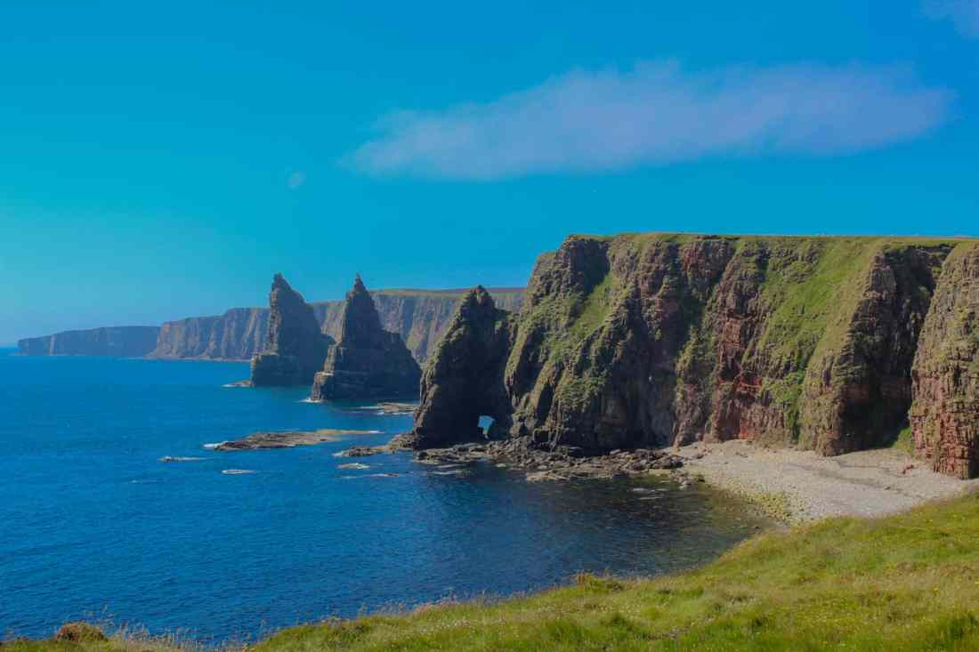Duncansby Stacks in Northern Scotland