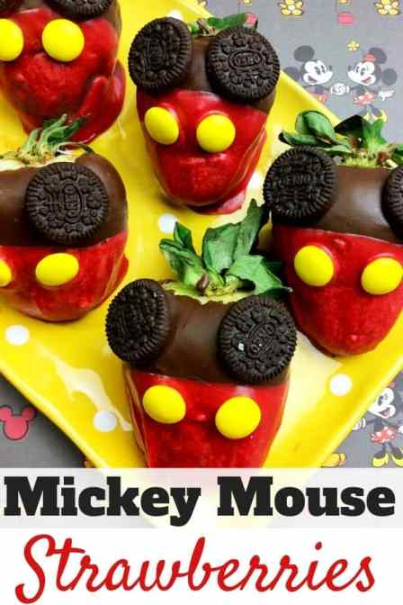 Mickey Mouse Strawberries Recipe