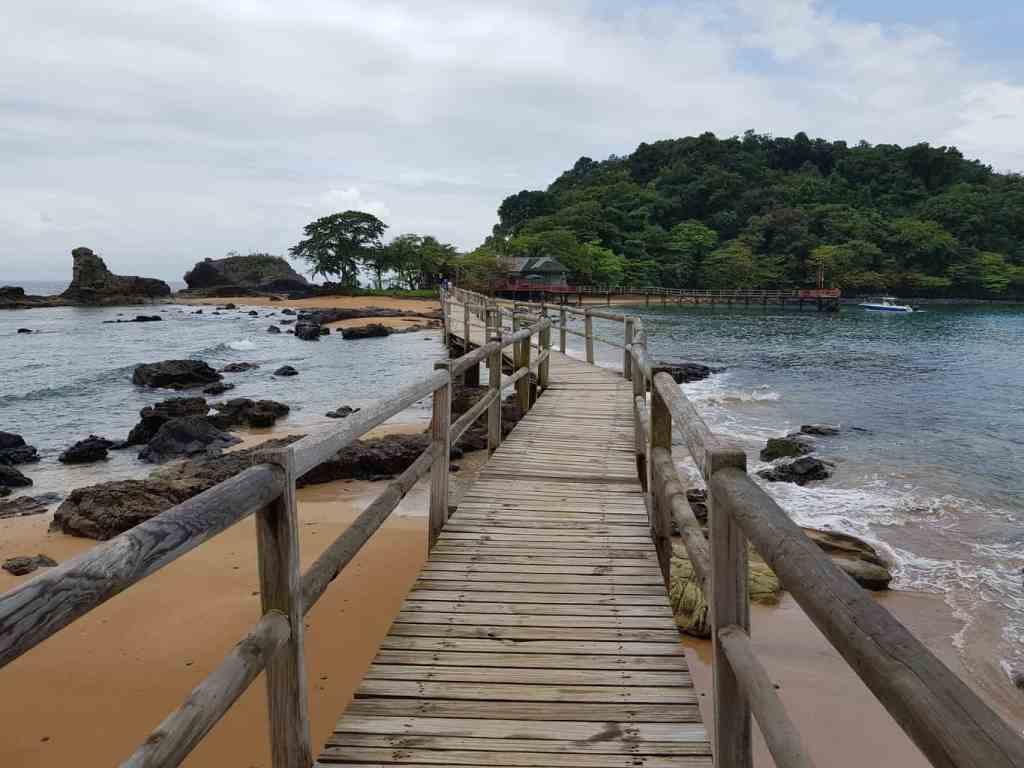 Bom Bom Beach Resort in Sao Tome and Principe
