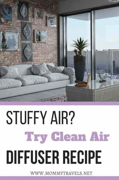 Clean Air diffuser recipe to combat against stuffy air