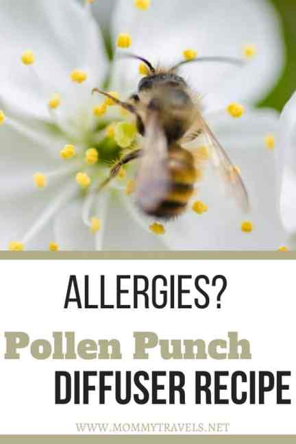 Pollen Punch diffuser recipe to help you with allergies