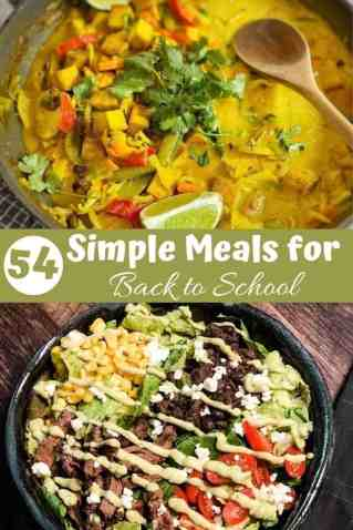 54 Simple Meals for Back to School