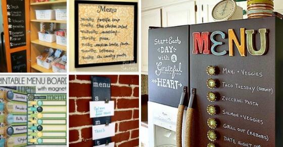 10 Great Menu Board Ideas MomOf6