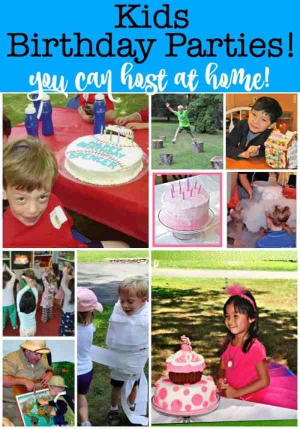 How to Throw Your Own Kids Birthday Parties at Home! - MomOf6