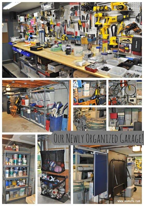 How to Organize Your Garage! - MomOf6 on Organized Garage  id=71479