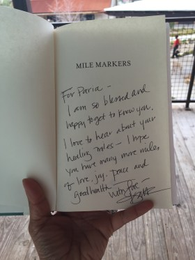 My Mile Markers book, autographed by Kristin Armstrong