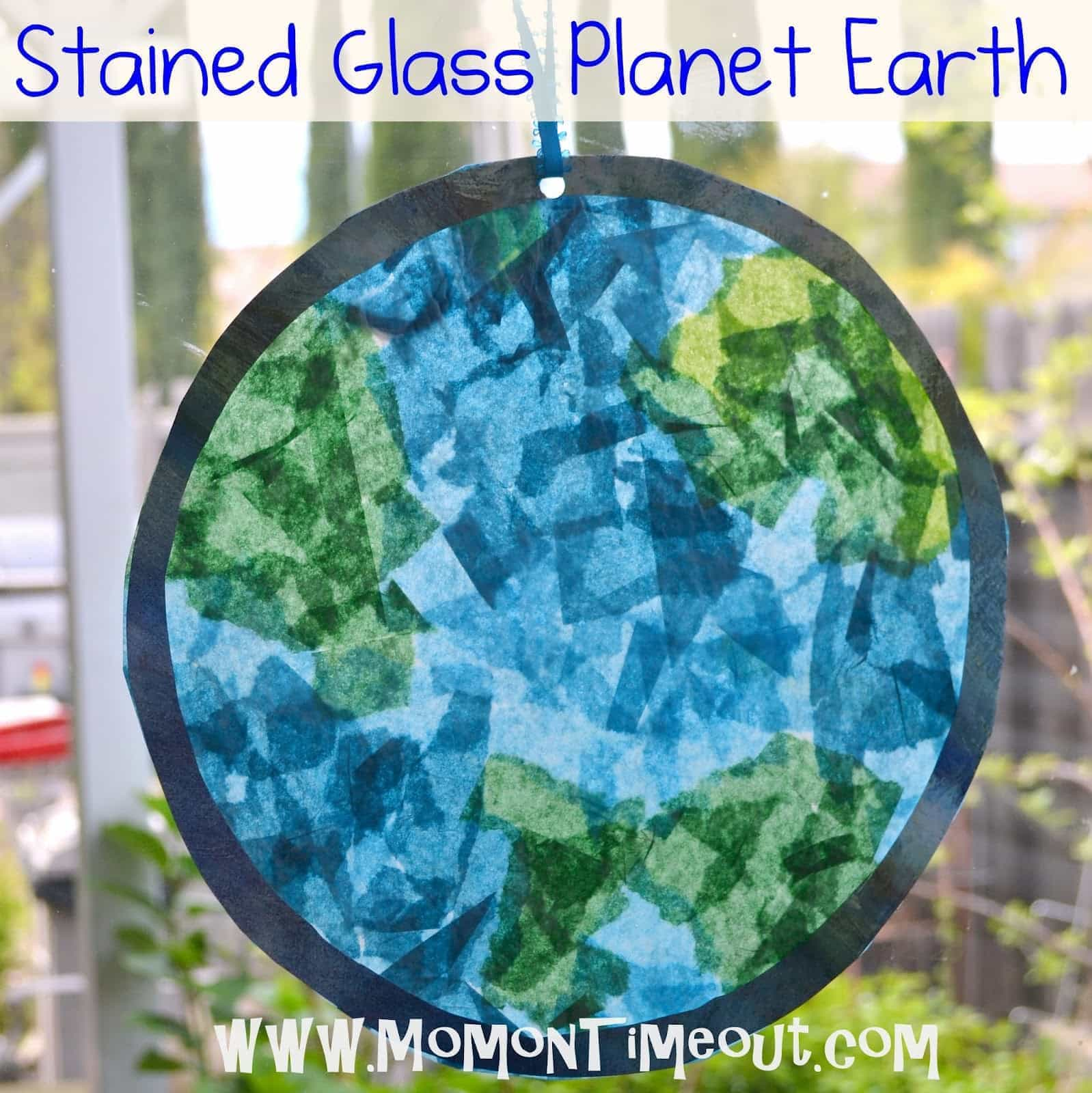 Stained Glass Planet Earth Earth Day Craft